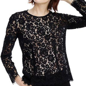 J. Crew Lace Top with Built-In Camisole Sz 2 NWT